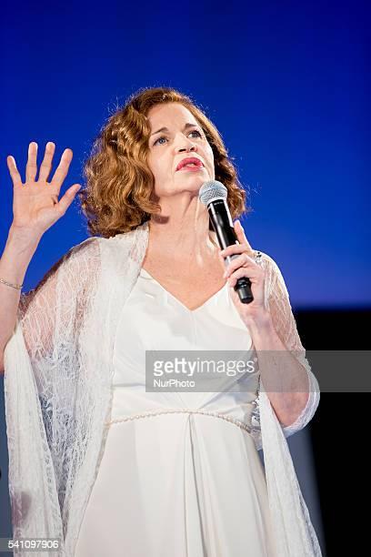 Anna Galiena attends 62 Taormina Film Fest Day 8 on June 18 2016 in Taormina Italy