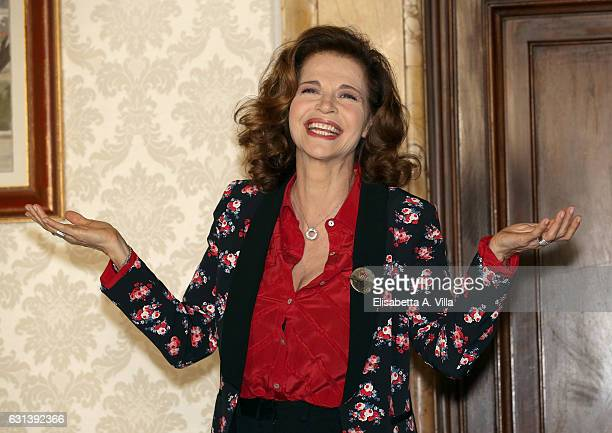 Anna Galiena attends a photocall for 'Il Bello Delle Donne Alcuni Anni Dopo ' tv series at Palazzo Ferrajoli on January 10 2017 in Rome Italy