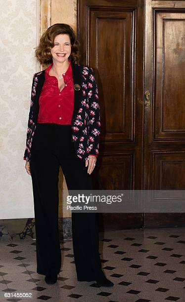 COLONNA ROMA ITALIA ITALY Anna Galiena attends a photocall for 'Il Bello Delle Donne Alcuni Anni Dopo' tv series in Italy