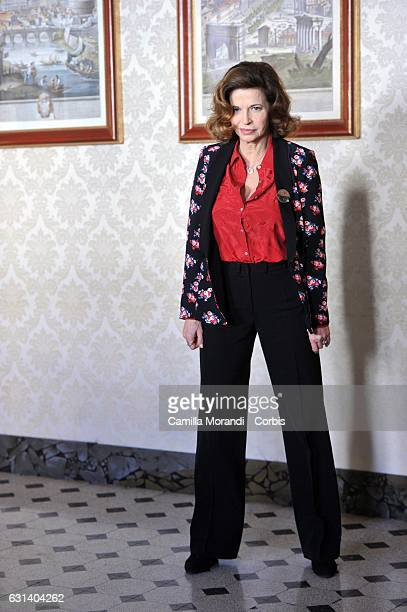 Anna Galiena attends a photocall for 'Il Bello Delle Donne' tv series on January 10 2017 in Milan Italy