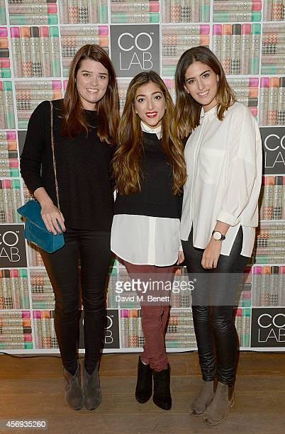 Anna Gardener Amelia Liana and Lily Pebbles attend as Ruth Crilly unveils a new haircare sensation 'Colab' on October 9 2014 in London England