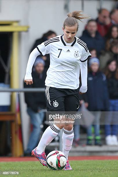 Anna Gasper of Germany during the UEFA Under19 Women's Elite Round match between U19 Women'´s Germany and U19 Women's Scotland at Fost on April 04...