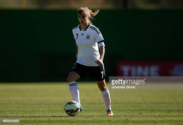 Anna Gasper of Germany in action during the women's U19 international friendly match between Sweden and Germany on March 5 2015 in La Manga Spain