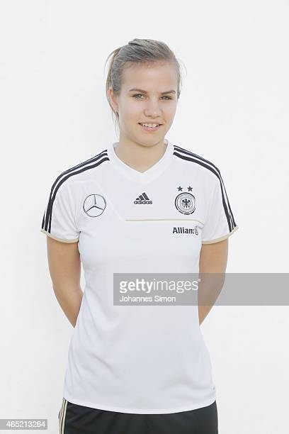 MARCH 04 Anna Gasper poses during the team presentation of U19 Women of Germany on March 4 2015 in La Manga Spain