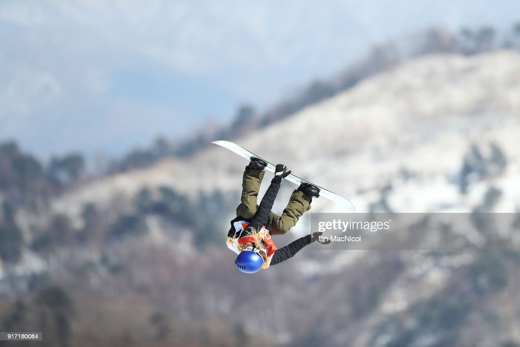 Anna Gasser of Austria competes in the Ladies Slopestyle Final at Phoenix Snow Park on February 12, 2018 in Pyeongchang-gun, South Korea.