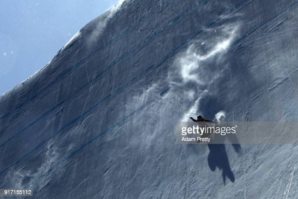 Anna Gasser of Austria competes in the Snowboard Ladies' Slopestyle Final on day three of the PyeongChang 2018 Winter Olympic Games at Phoenix Snow...