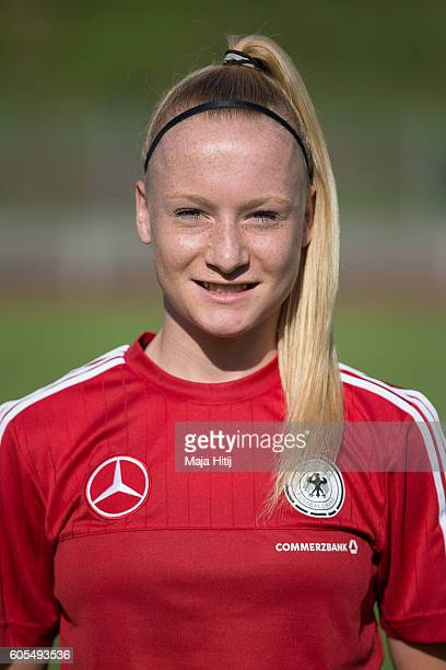 Anna Gerhardt poses during the Germany Women's U20 team presentation on September 13 2016 in Duesseldorf Germany