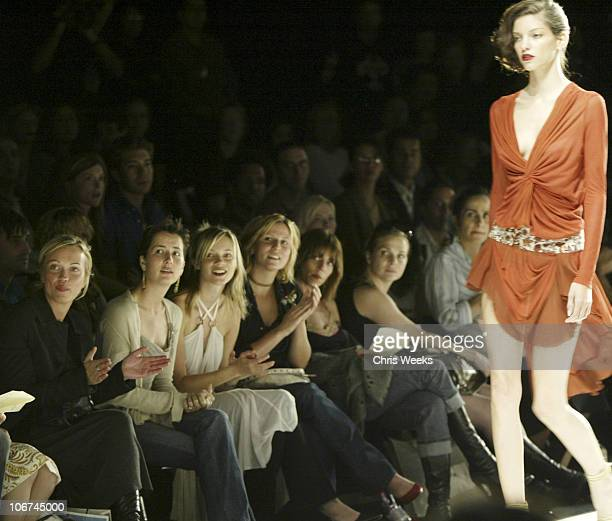 Anna Getty and Amy Smart during Mercedes-Benz Fall 2004 Fashion Week at Smashbox Studios - Rami Kashou - Front Row at Smashbox Studios in Culver...