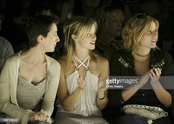 Anna Getty and Amy Smart during MercedesBenz Fall 2004 Fashion Week at Smashbox Studios Rami Kashou Front Row at Smashbox Studios in Culver City...