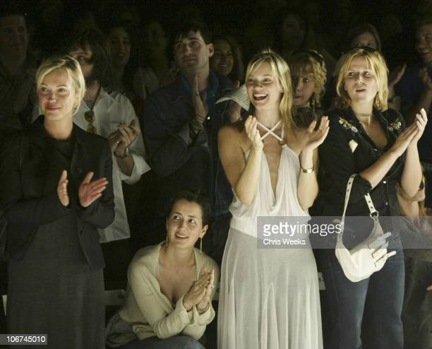 Anna Getty and Amy Smart during MercedesBenz Fall 2004 Fashion Week at Smashbox Studios Rami Kashou Front Row at Smashbox Studios in Culver City...