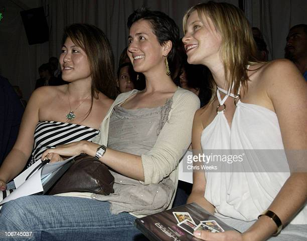 Anna Getty and Amy Smart during MercedesBenz Fall 2004 Fashion Week at Smashbox Studios Custo Barcelona Front Row at Smashbox Studios in Culver City...
