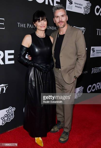 Anna Getty and Balthazar Getty attend Sean Penn Bryan Lourd and Vivi Nevo Host 10th Anniversary Gala Benefiting CORE at Wiltern Theatre on January 15...