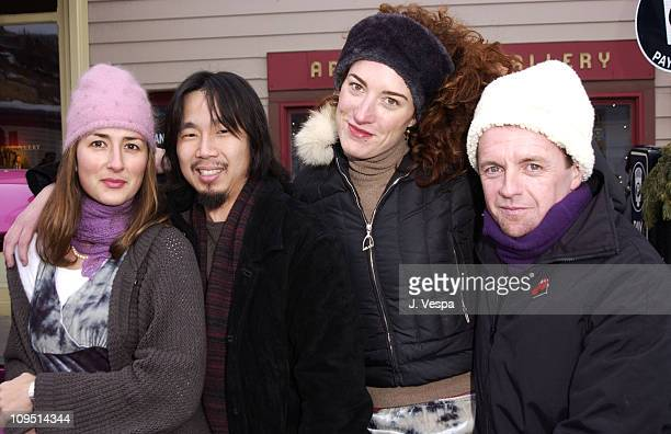 Anna Getty and cast during 2002 Sundance Film Festival 'Confessions of a Burning Man' Outdoor Portraits at Main Street Park City in Park City Utah...