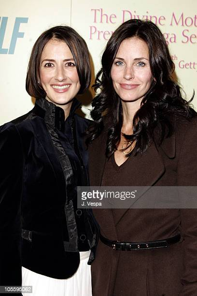 Anna Getty and Courteney Cox during The Divine Mother Prenatal Yoga Series Launch Party at Tea House in Los Angeles, California, United States.