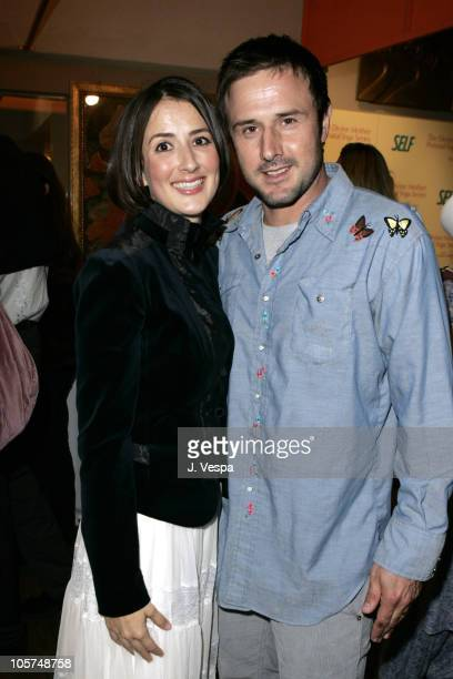 Anna Getty and David Arquette during The Divine Mother Prenatal Yoga Series Launch Party at Tea House in Los Angeles, California, United States.