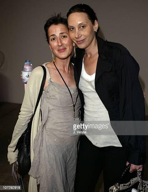 Anna Getty and Jacqui Getty during MercedesBenz Fall 2004 Fashion Week at Smashbox Studios Rami Kashou Front Row at Smashbox Studios in Culver City...