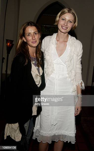 Anna Getty and Kirsty Hume during Kirsty Hume Hosts CustomDesigned Perfume Party at Chateau Marmont in West Hollywood California United States
