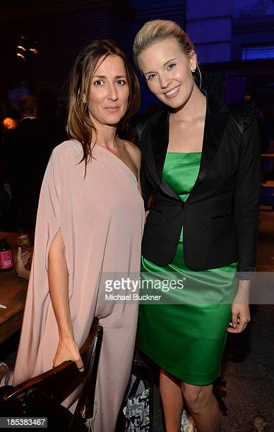 Anna Getty and Maggie Grace attend the after party for the 23rd Annual Environmental Media Awards presented by Toyota and Lexus at Warner Bros...