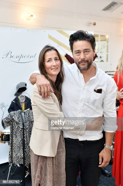 Anna Getty and Scott Oster attend Bonpoint Baby2Baby Celebrate At Au Fudge With Estee Stanley Kelly Sawyer Patricof And Norah Weinstein at Au Fudge...