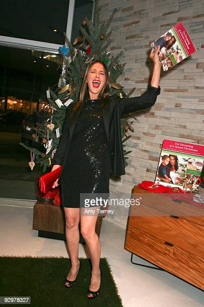 "Anna Getty attends her own book signing for Anna Getty's ""I'm Dreaming of a Green Christmas"" Book Launch Party at Environment Furniture on November..."