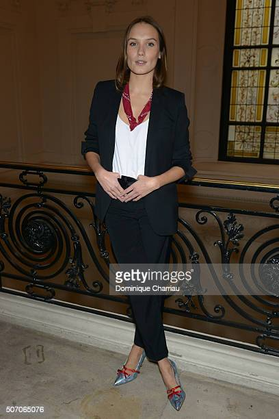 Anna Girardot attends the JeanPaul Gaultier Haute Couture Spring Summer 2016 show as part of Paris Fashion Week on January 27 2016 in Paris France