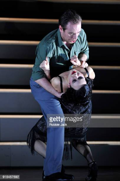 Anna Goryachova as Carmen and Francesco Meli as Don Jose in the Royal Opera's production of Georges Bizet's Carmen directed by Barrie Kosky and...