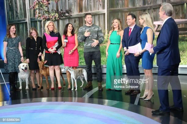 Anna Gracie Laura Kieffer Janice Dean Gail Miller Bisher Tim Tebow Jillian Mele Brian Kilmeade Ainsley Earhardt and Steve Doocy at Fox News Studios...
