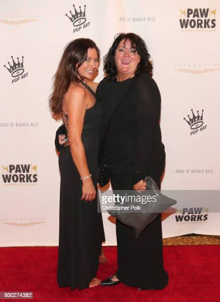 Anna Griffin and Marcy Bianchi attend the James Paw 007 Ties Tails Gala at the Four Seasons Westlake Village on March 10 2018 in Westlake Village...