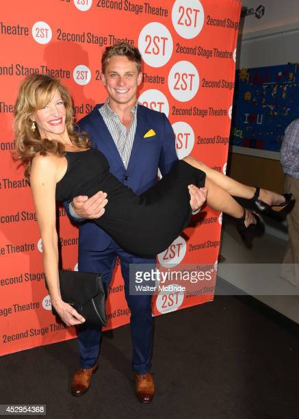 Anna Gunn and Billy Magnussen attends the OffBroadway Opening Night After Party for 'Sex with Strangers' at Four at Yotel on July 30 2014 in New York...