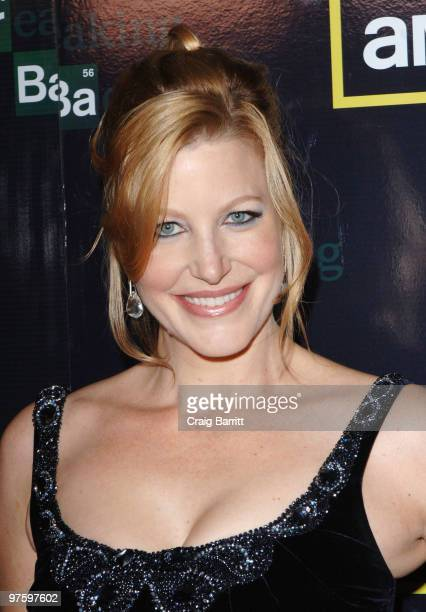 "Anna Gunn arrives at the""Breaking Bad"" Season Three Premiereat ArcLight Cinemas on March 9, 2010 in Hollywood, California."
