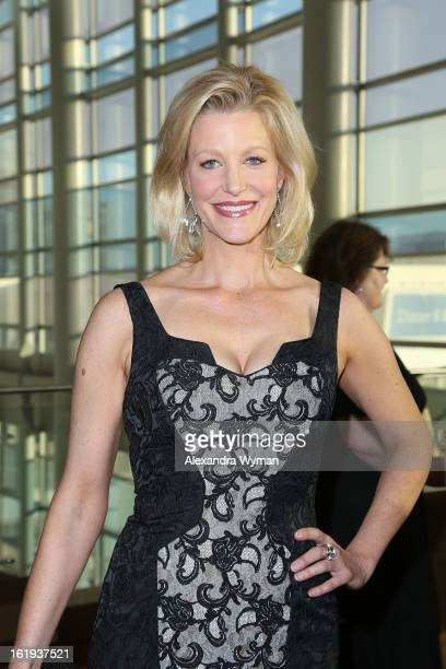 Anna Gunn at The 2013 Writers Guild Awards Arrivals held at The JW Marriott Los Angeles at LA LIVE on February 17 2013 in Los Angeles California