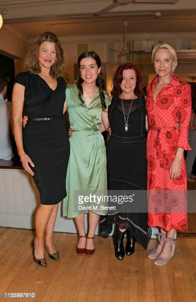 "Anna Gunn, Emma Canning, Finty Williams and Lia Williams attend the press night after party for ""The Night Of The Iguana"" at Browns on July 16, 2019..."