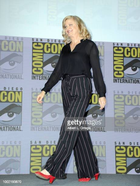 Anna Gunn walks onstage during the 'Breaking Bad' 10th Anniversary Celebration during ComicCon International 2018 at San Diego Convention Center on...