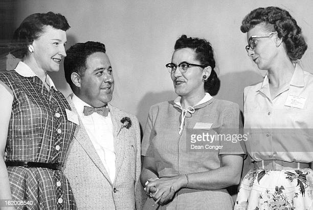 JUN 14 1956 Anna Hansen of Grand Junction a vice president of the Colorado Nurses Assn confers with three Denverites appearing on the group's...