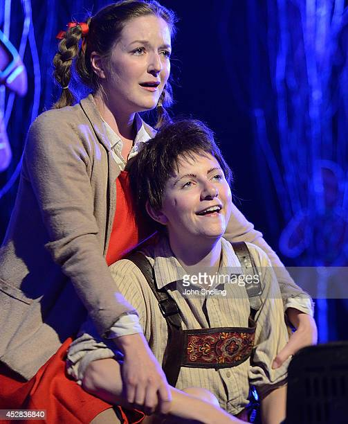 Anna Harvey as Hansel and Alice Rose Privett as Gretel Garsington Opera Young Artists programme perform in 'Hansel and Gretel' at West Green on July...