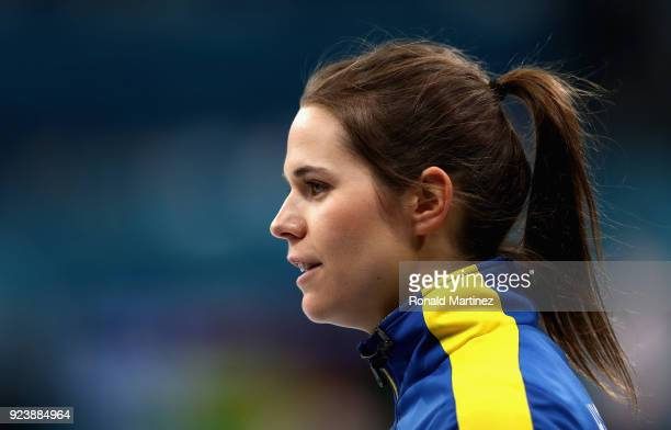 Anna Hasselborg of Sweden looks on during the Women's Gold Medal Game between Sweden and Korea on day sixteen of the PyeongChang 2018 Winter Olympic...