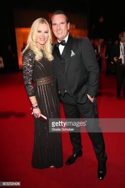 Anna Heesch and her boyfriend Ralf Duemmel during the Goldene Kamera reception on February 22 2018 at the Messe Hamburg in Hamburg Germany