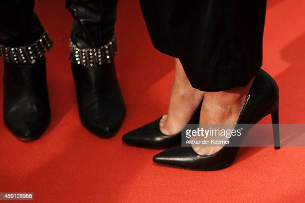 Anna Heesch and Melissa OrtizGomez attend the Deichmann Shoe Step of the Year 2014 at Atlantic Hotel on November 17 2014 in Hamburg Germany