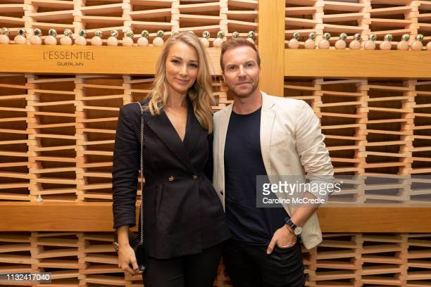 Anna Heinrich and Michael Brown attend the Guerlain L'Essentiel Launch Event on February 27 2019 in Sydney Australia