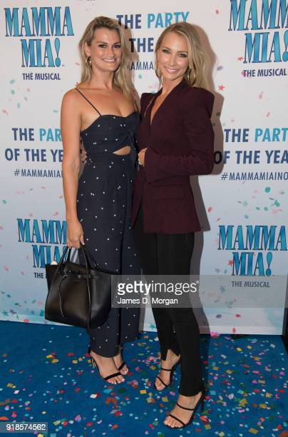 Anna Heinrich and sister Charlotte arrive ahead of the premiere of Mamma Mia The Musical at Capitol Theatre on February 15 2018 in Sydney Australia