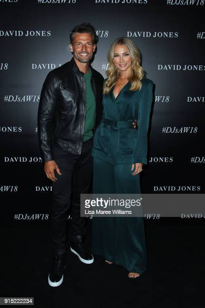 Anna Heinrich and Tim Robards arrive ahead of the David Jones Autumn Winter 2018 Collections Launch at Australian Technology Park on February 7 2018...