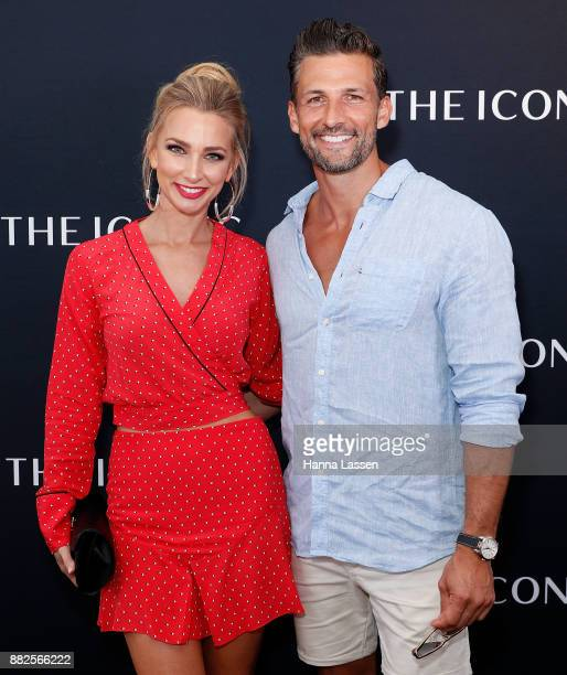 Anna Heinrich and Tim Robards arrive ahead of THE ICONIC Swim Show 2017 on November 30 2017 in Sydney Australia