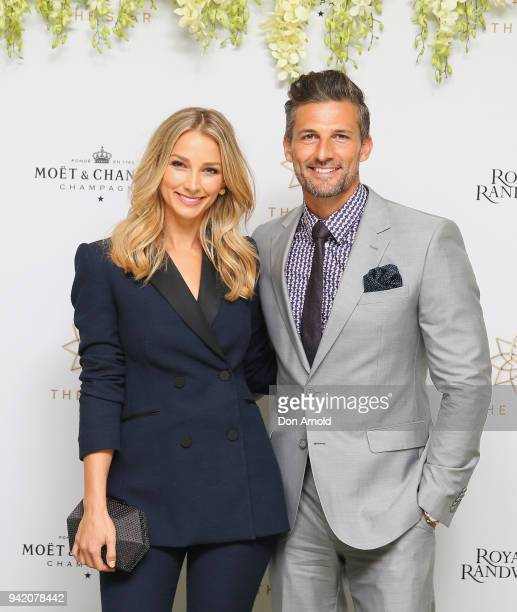 Anna Heinrich and Tim Robards attend The Star Doncaster Mile Luncheon at The Star on April 5 2018 in Sydney Australia