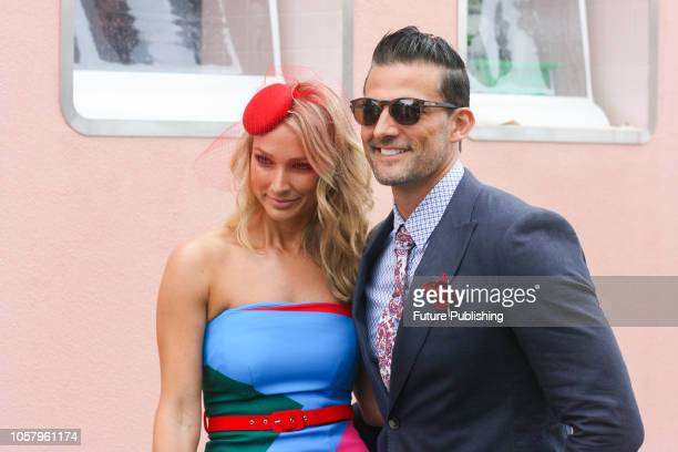Anna Heinrich and Tim Robards enjoying Lexus Melbourne Cup Day at the 2018 Melbourne Cup Carnival