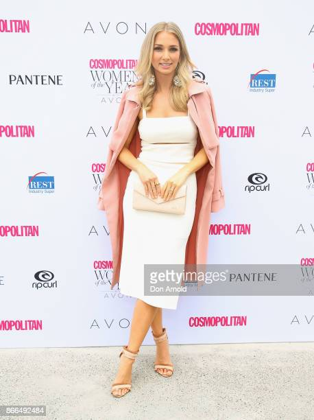 Anna Heinrich arrives ahead of the 11th Annual Cosmopolitan Women of the Year Awards on October 26 2017 in Sydney Australia