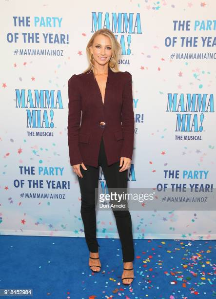 Anna Heinrich arrives ahead of the premiere of Mamma Mia The Musical at Capitol Theatre on February 15 2018 in Sydney Australia