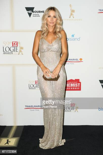 Anna Heinrich arrives at the 59th Annual Logie Awards at Crown Palladium on April 23 2017 in Melbourne Australia
