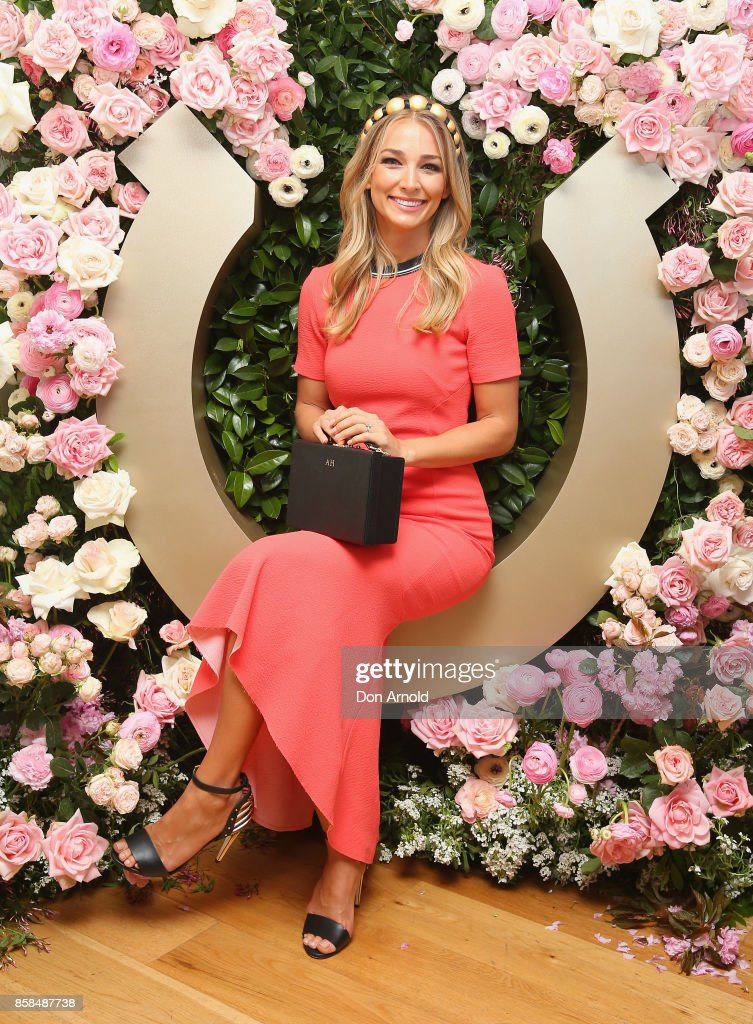 Anna Heinrich attends Moet & Chandon Spring Champion Stakes Day at Royal Randwick Racecourse on October 7, 2017 in Sydney, Australia.