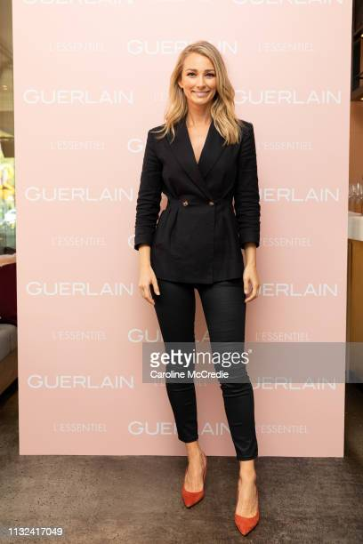 Anna Heinrich attends the Guerlain L'Essentiel Launch Event on February 27 2019 in Sydney Australia