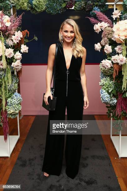 Anna Heinrich attends the Myer Fashion Runway show on March 16 2017 in Sydney Australia